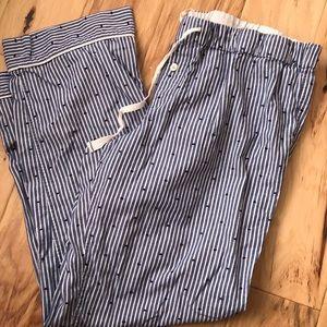 J. Crew striped pajama pants Sz L
